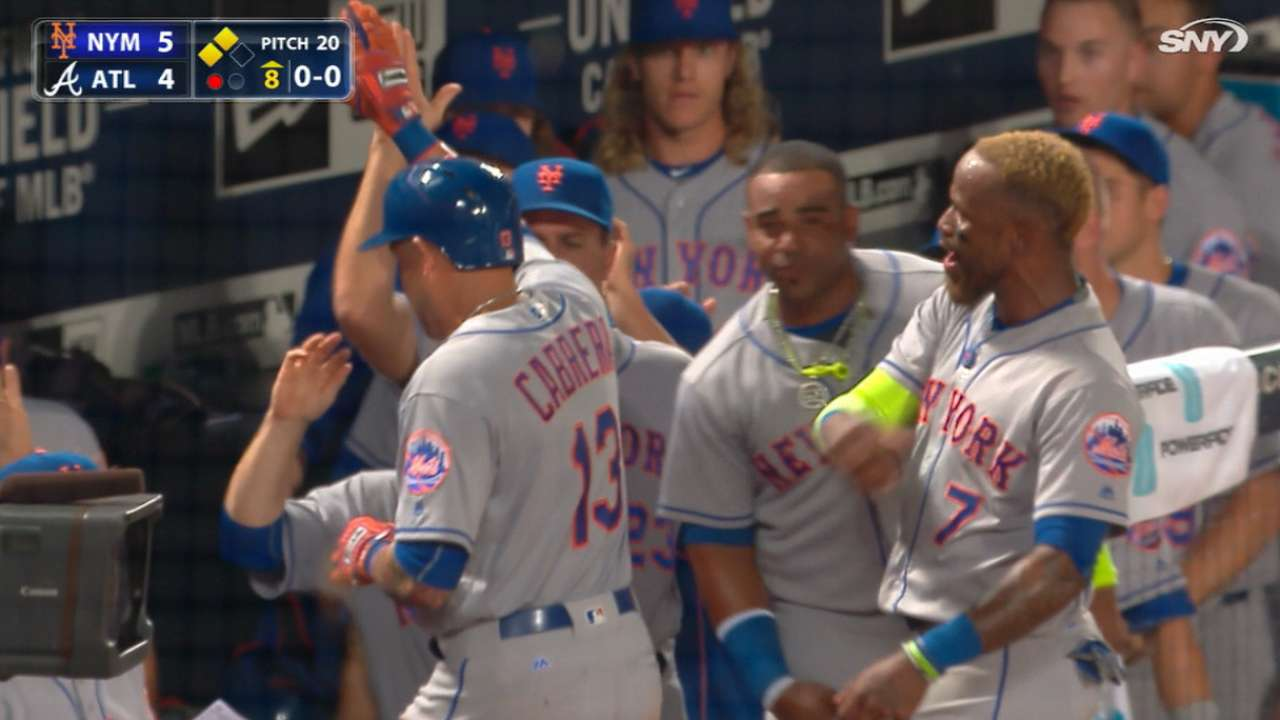 Mets' four-run 8th inning
