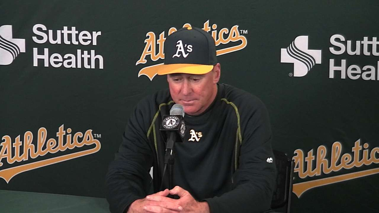 Melvin on A's close loss