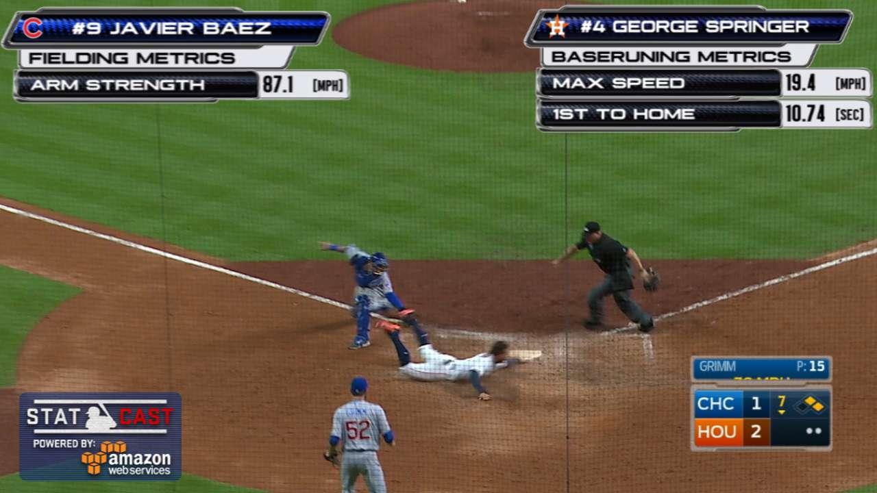 Statcast: Baez's sizzling throw