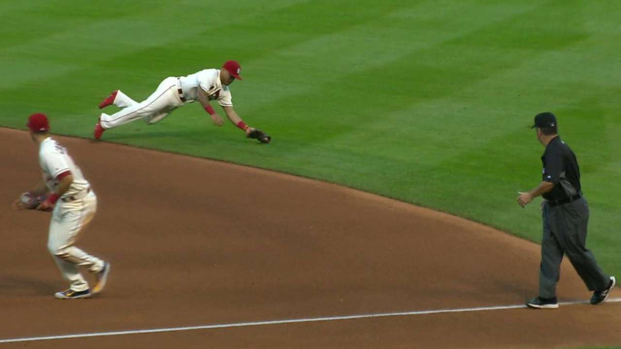 Wong's diving play