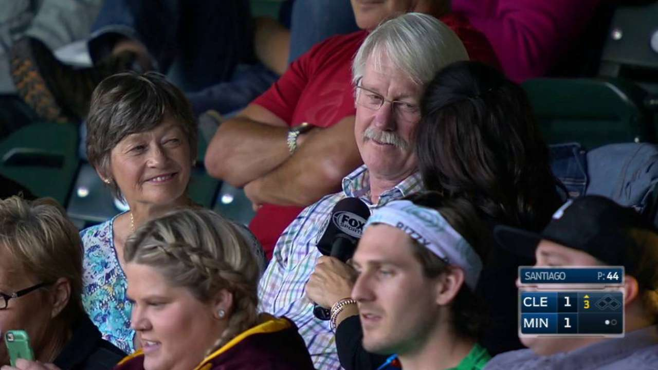 Beresford's parents on MLB debut