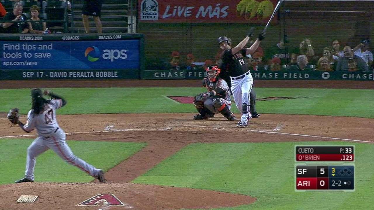 O'Brien's solo home run