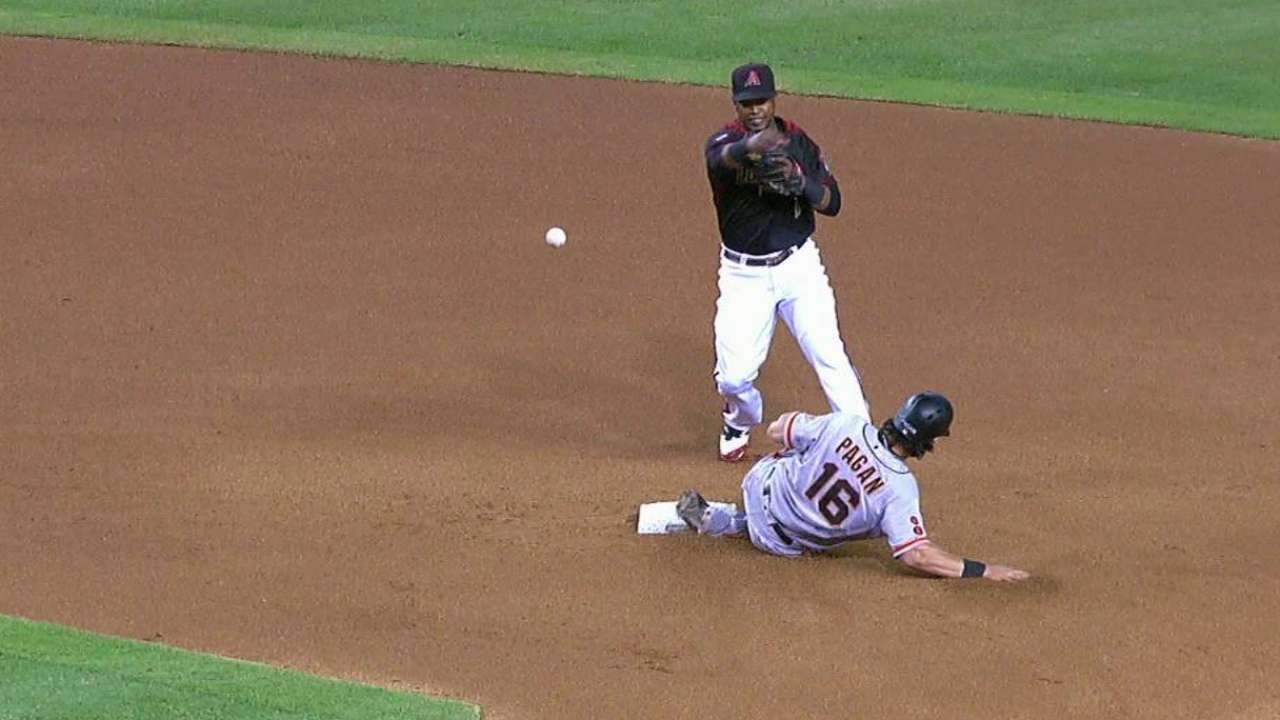 Lamb starts a double play