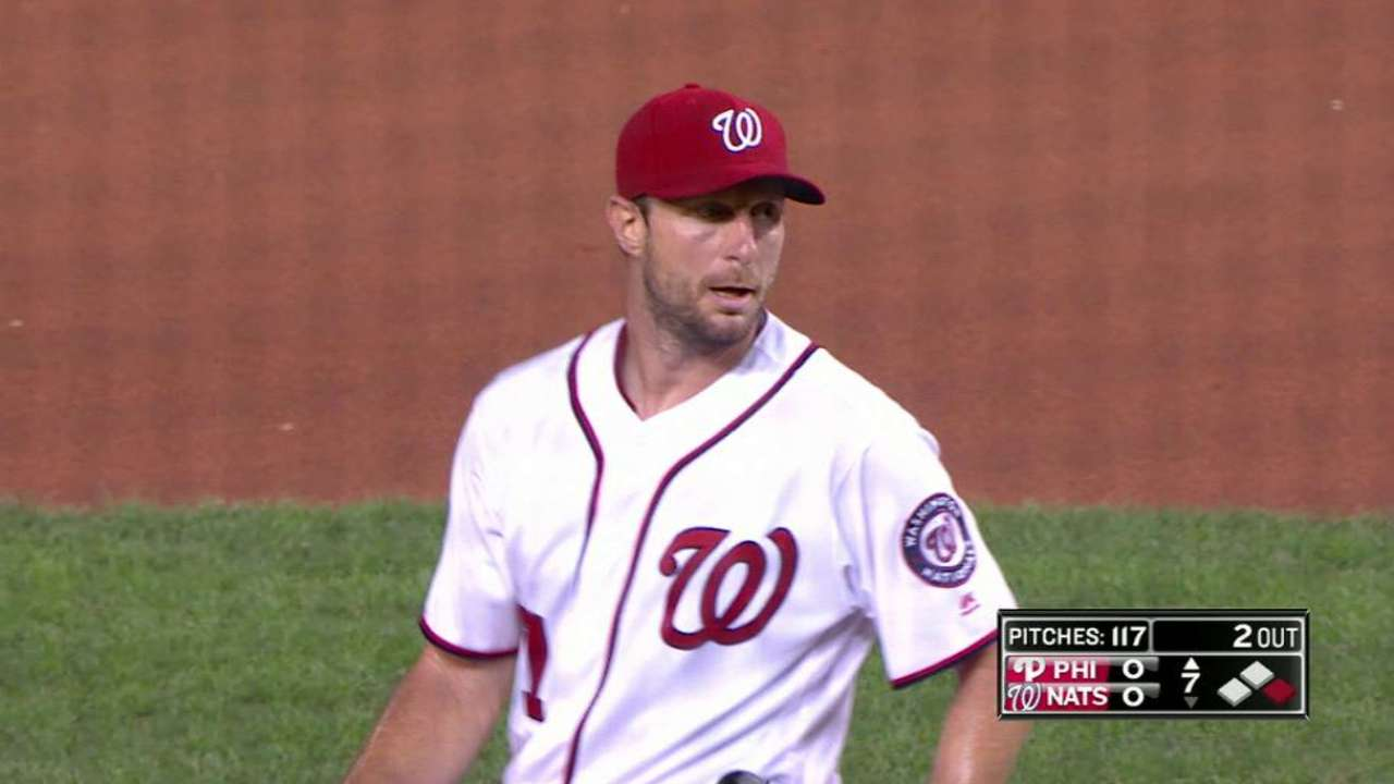 Scherzer's eighth strikeout