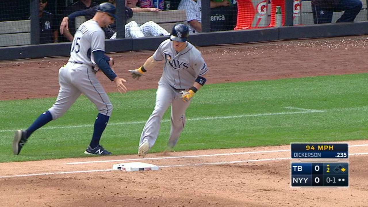 Homers help Rays stall Yankees' playoff chase