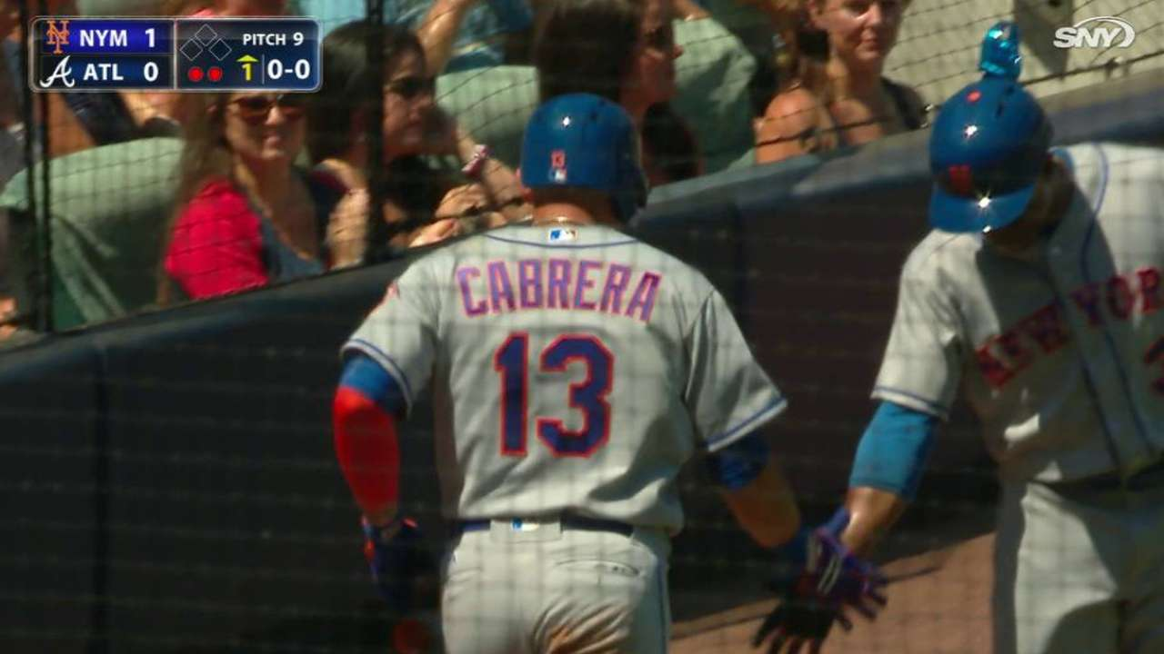 Cabrera scores on a groundout