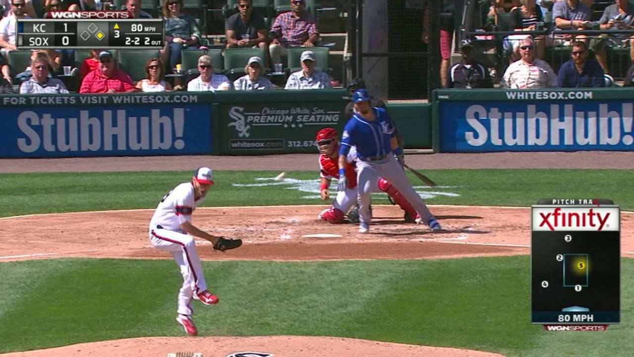 Sale hit by liner, gets the out