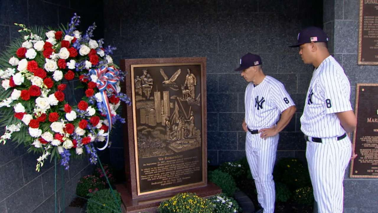 Yankees, Rays commemorate 9/11 in New York