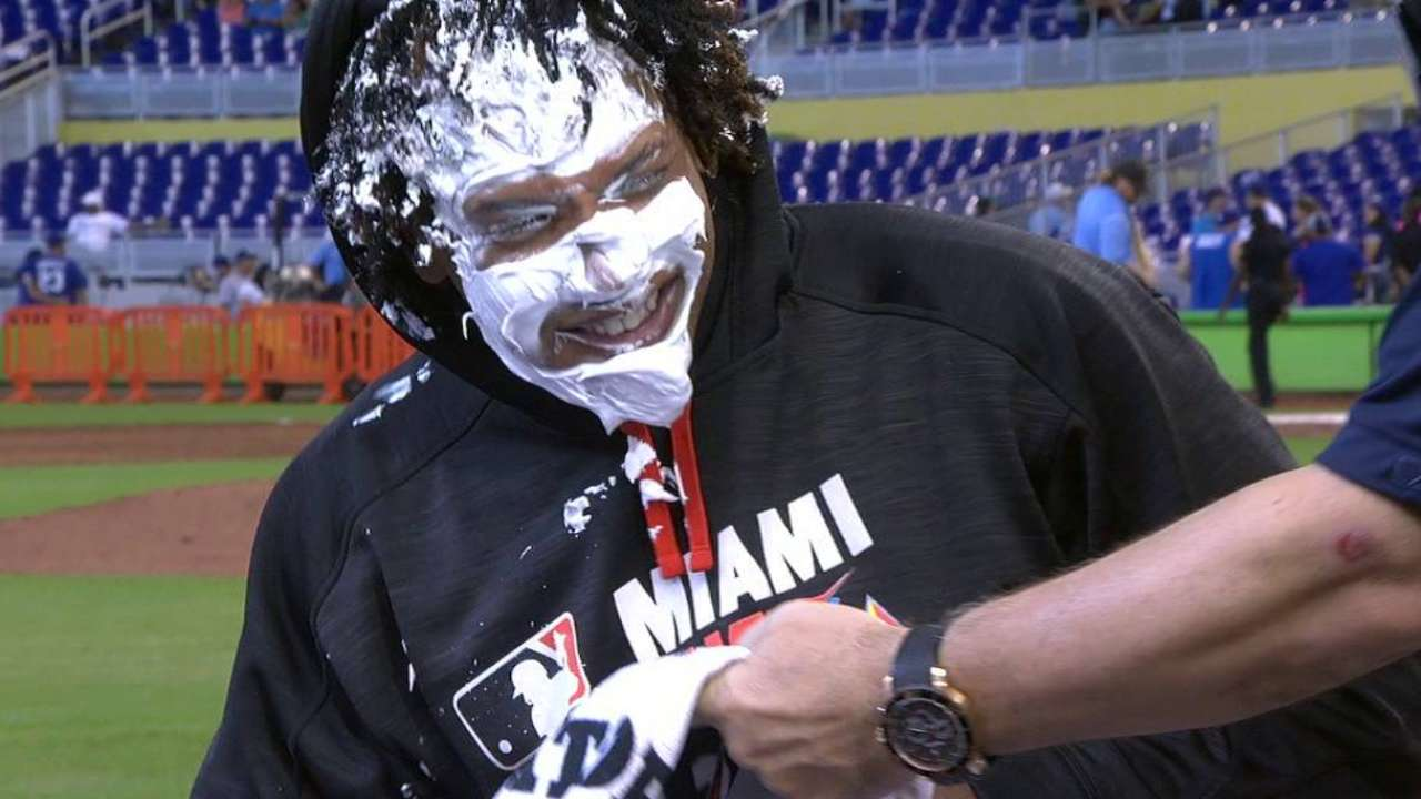 Urena's postgame pie to the face