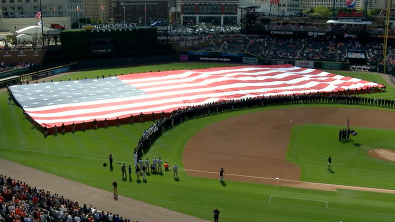 Tigers, Orioles commemorate 9/11