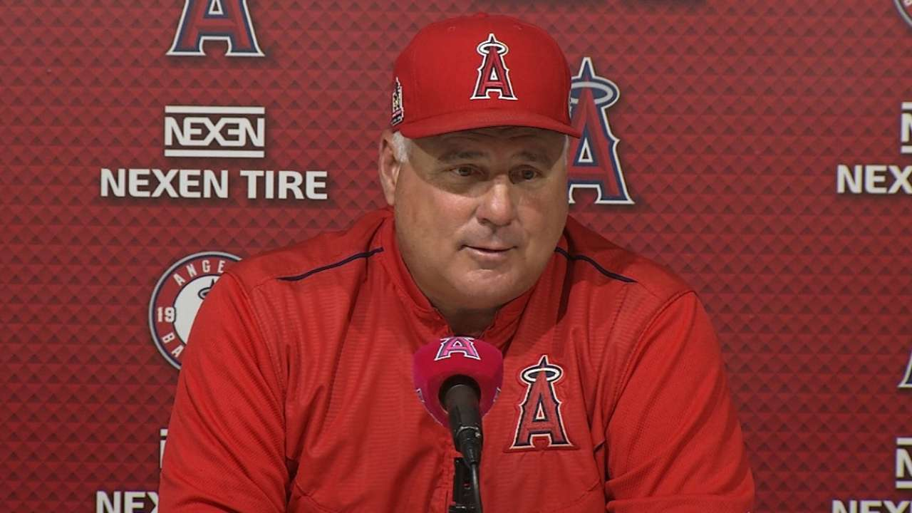 Scioscia on win over Rangers