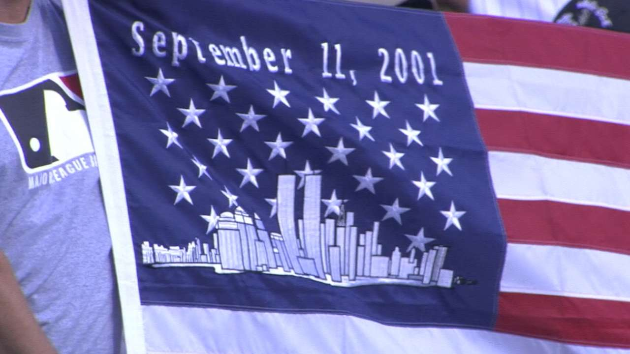 MLB pauses to remember 9/11 victims