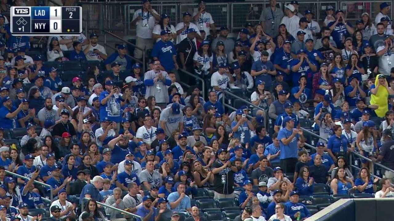 Dodgers fans do a roll call