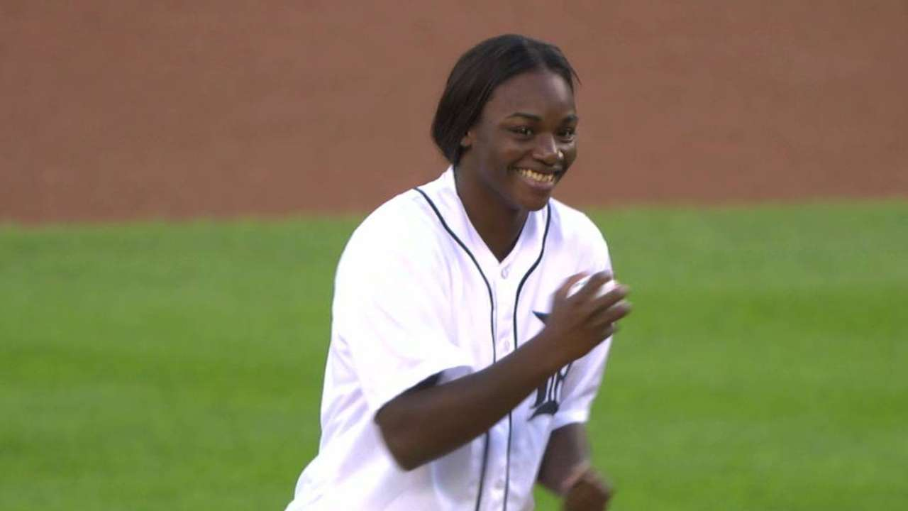 Gold medalist adds punch to 'second' pitch