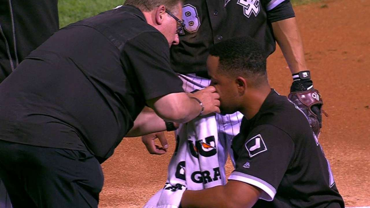 Abreu gets checked on