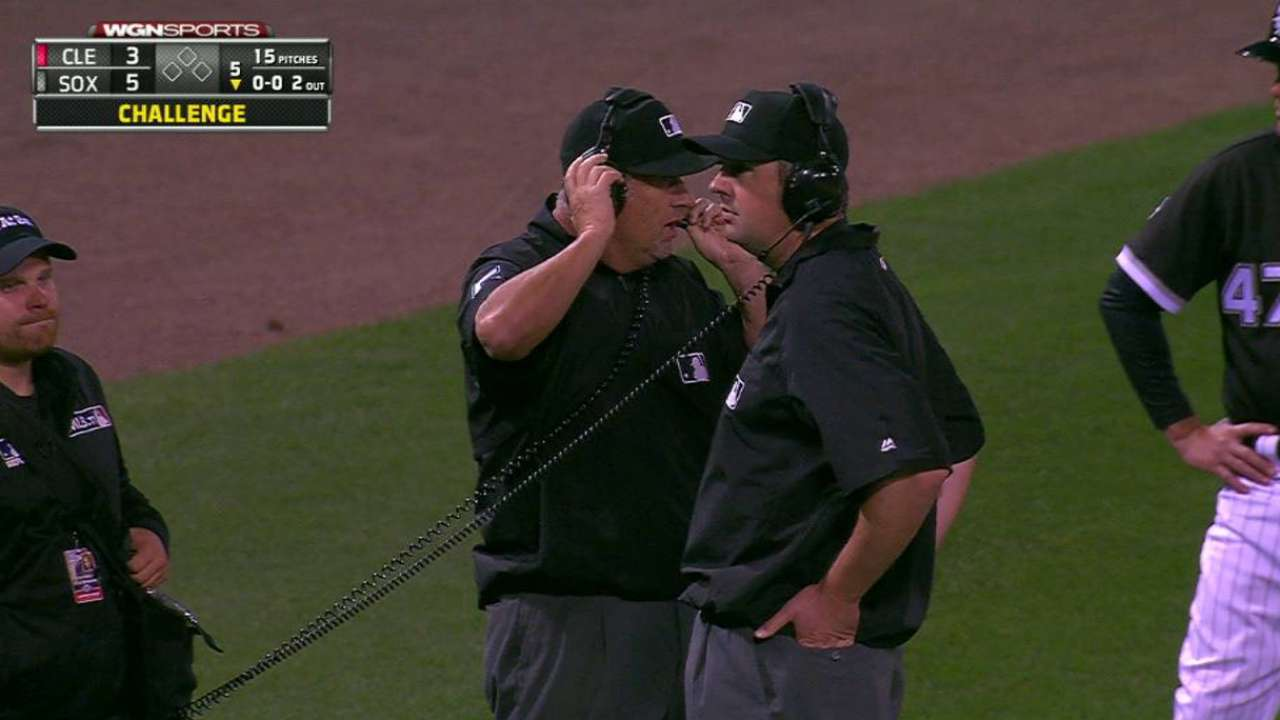 White Sox review play in 5th