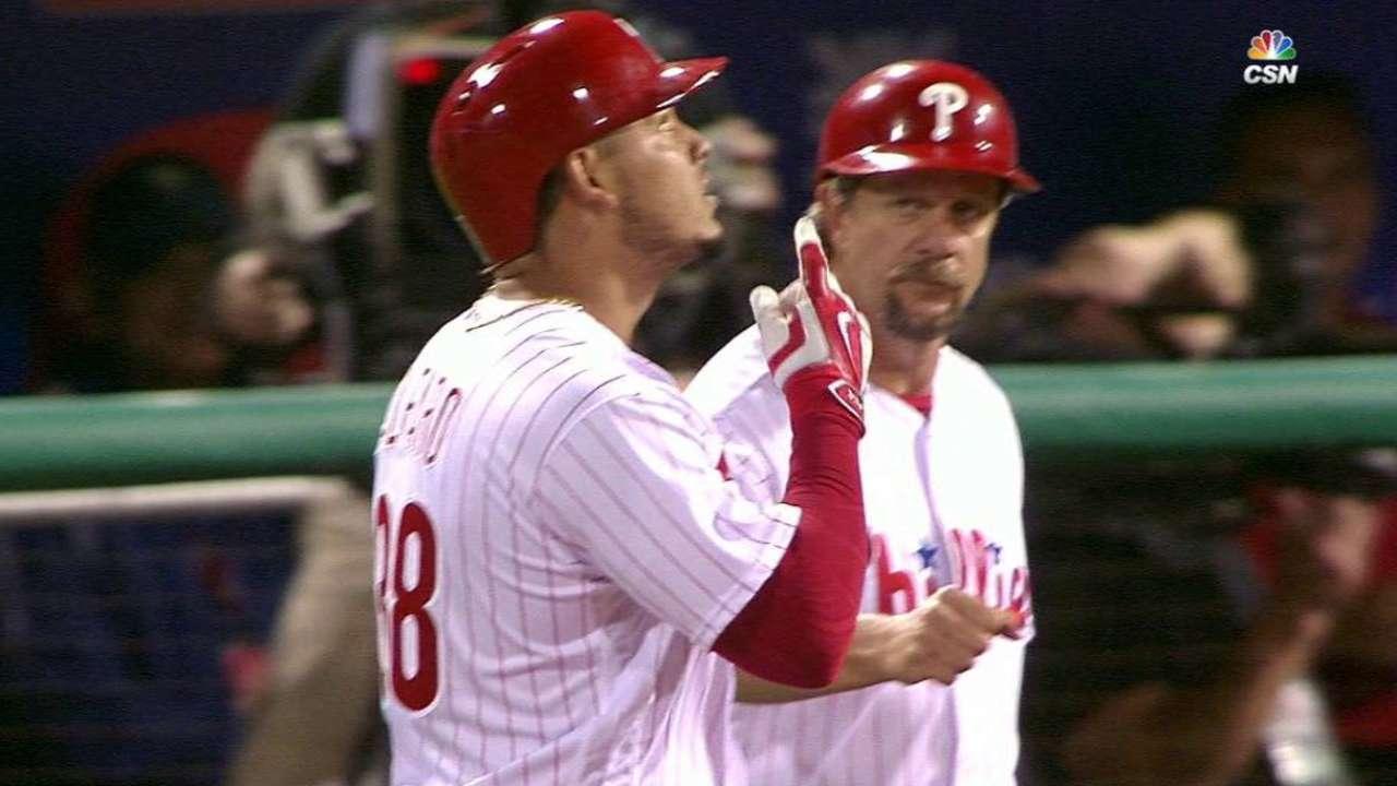 Alfaro's first big league hit