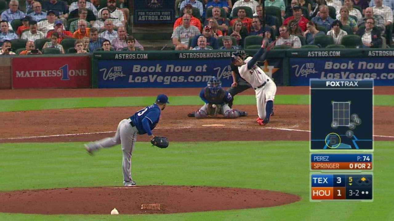 Perez strikes out Springer