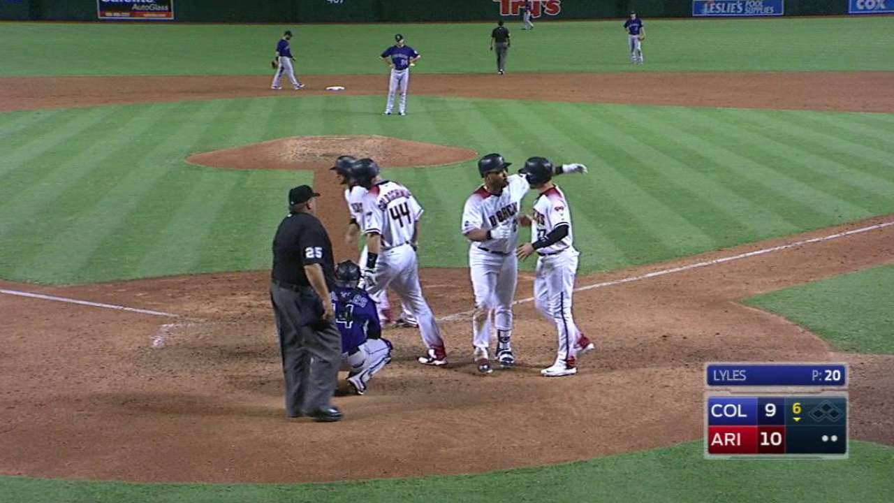 Long ball carries D-backs over Rockies