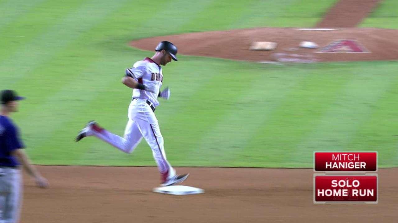 Haniger's first MLB home run