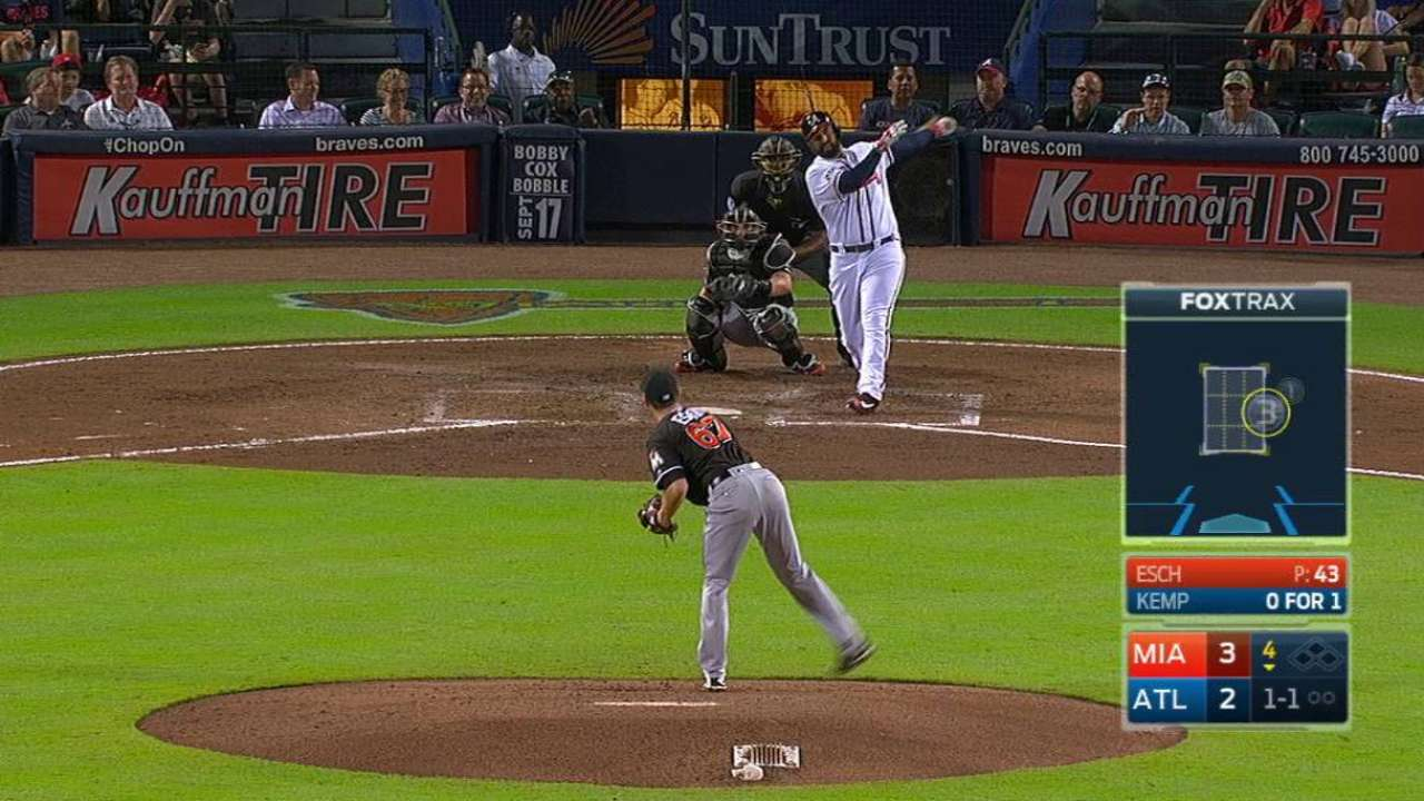 Christian Yelich, Marlins beat Braves   MLB com