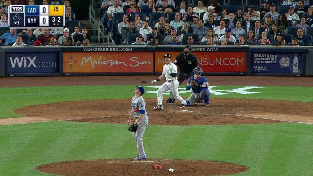 Blasts off bench power Yanks past Dodgers