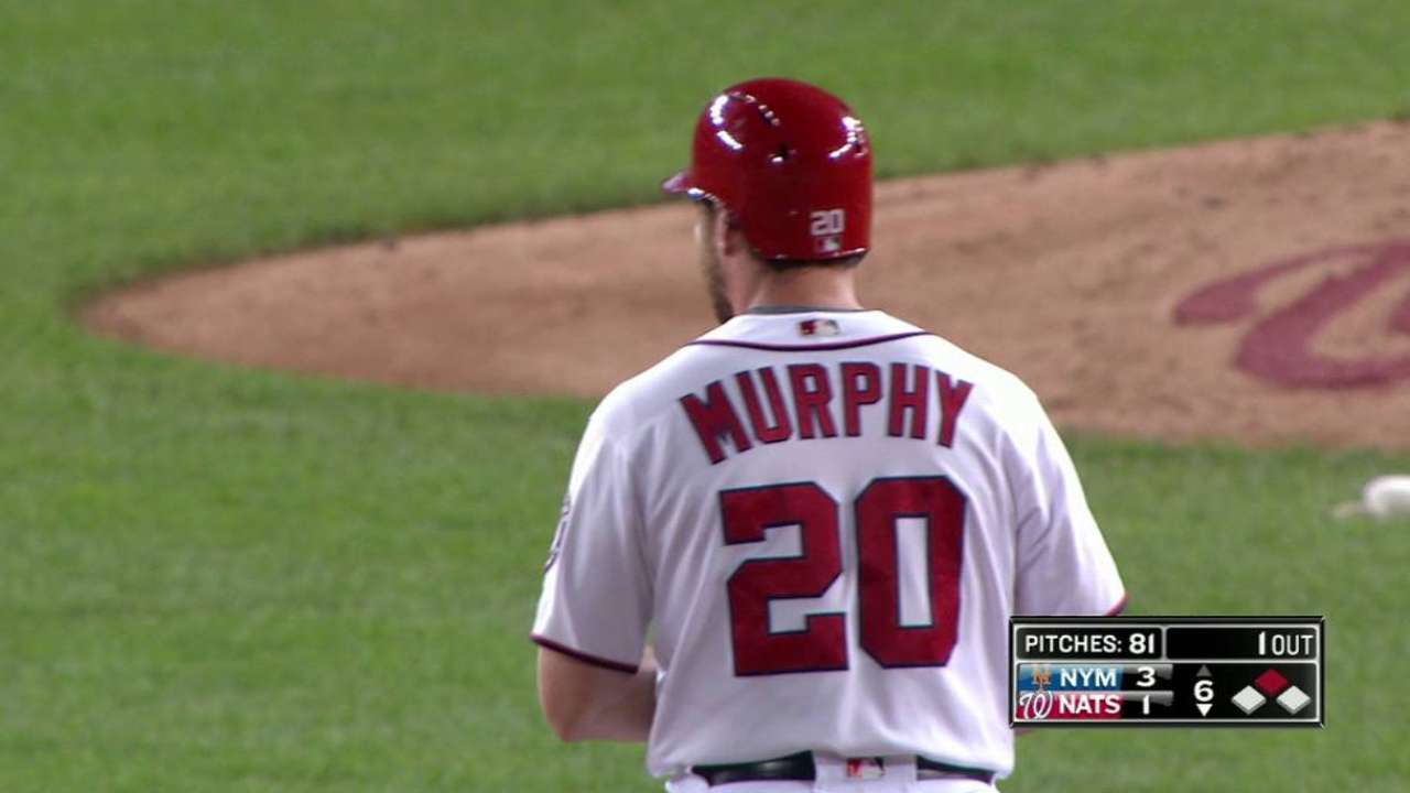 Murphy's double to right