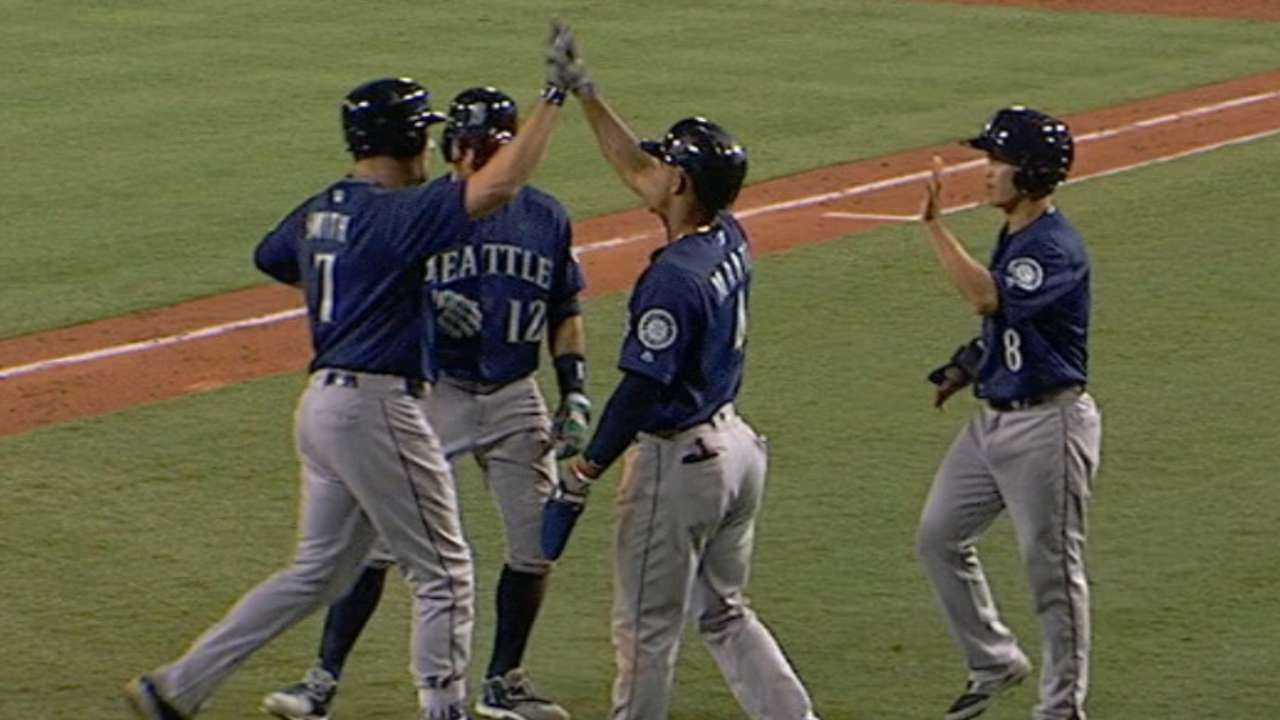 Mariners muscling up in home run department