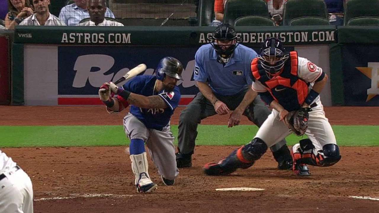 Odor reaches on a strikeout