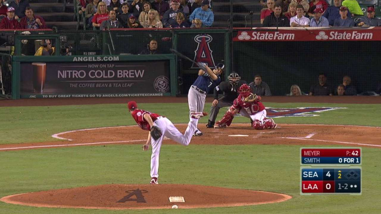 Meyer gets a tip from Pujols after home debut