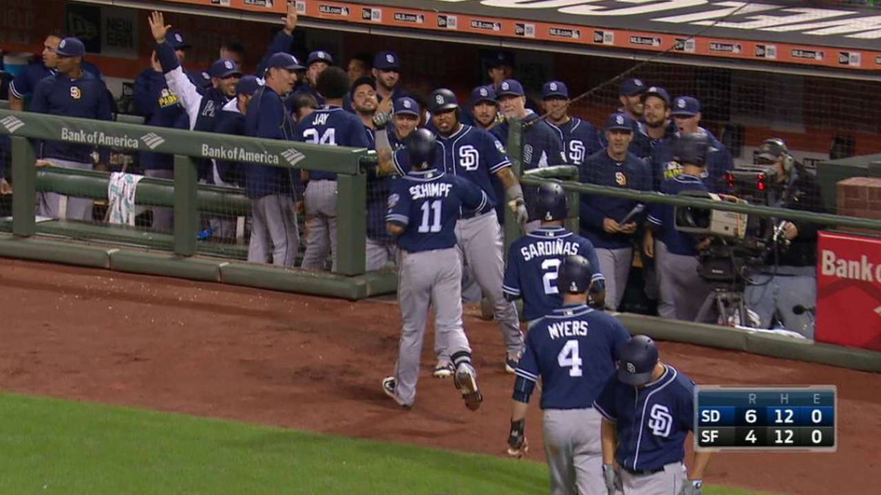Padres stun Giants with five-run ninth inning