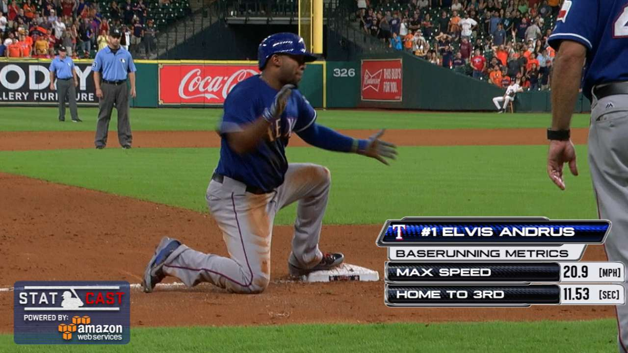 Statcast of the Day: Texas' 3-bagger dagger