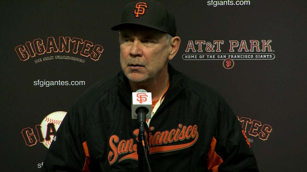 Bochy on 6-4 loss to Padres