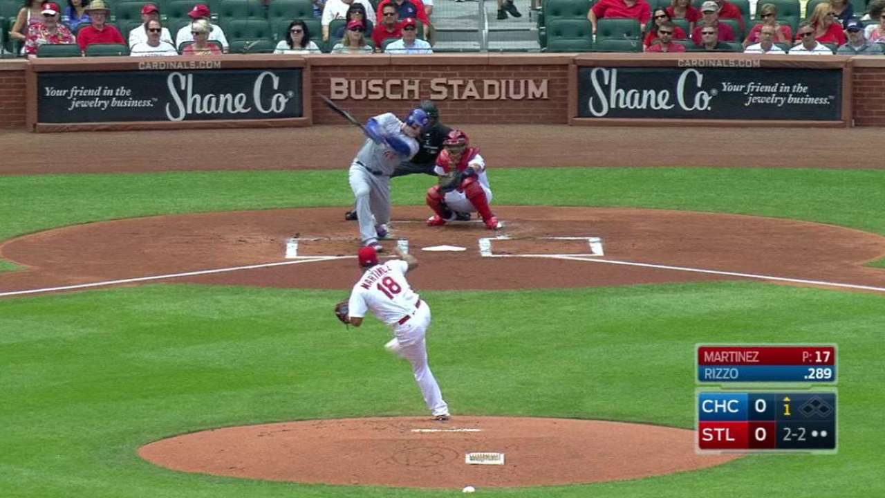 Martinez strikes out the side