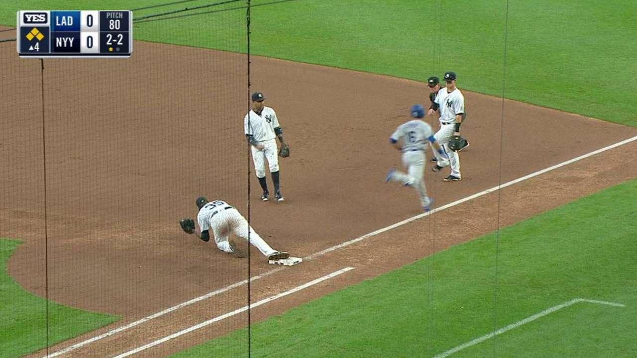 Yankees' impressive double play