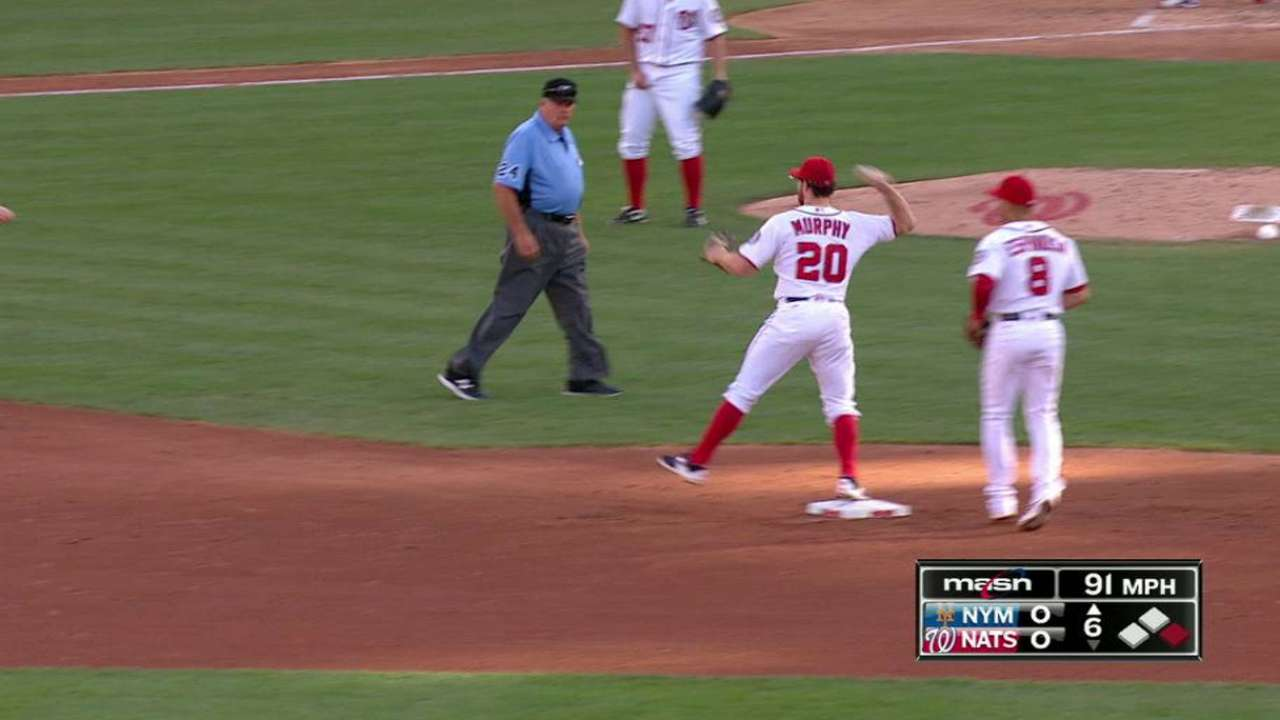 Murphy turns a double play