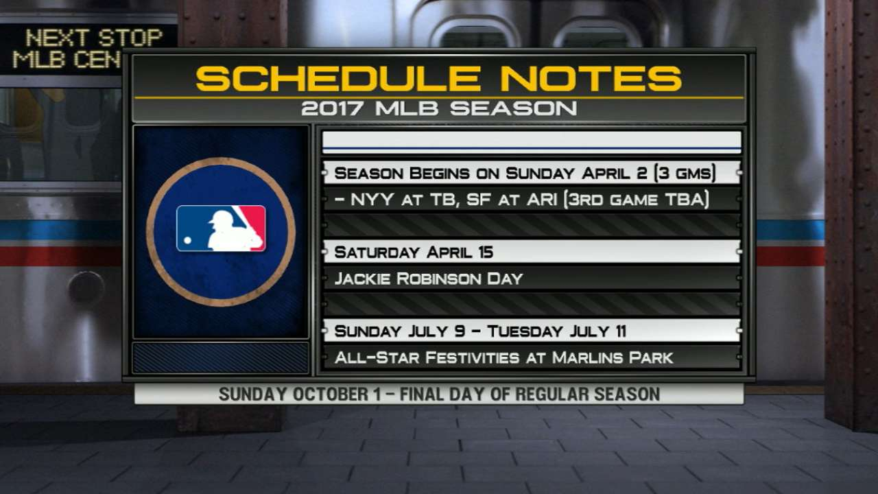 Save these dates: MLB releases 2017 schedule