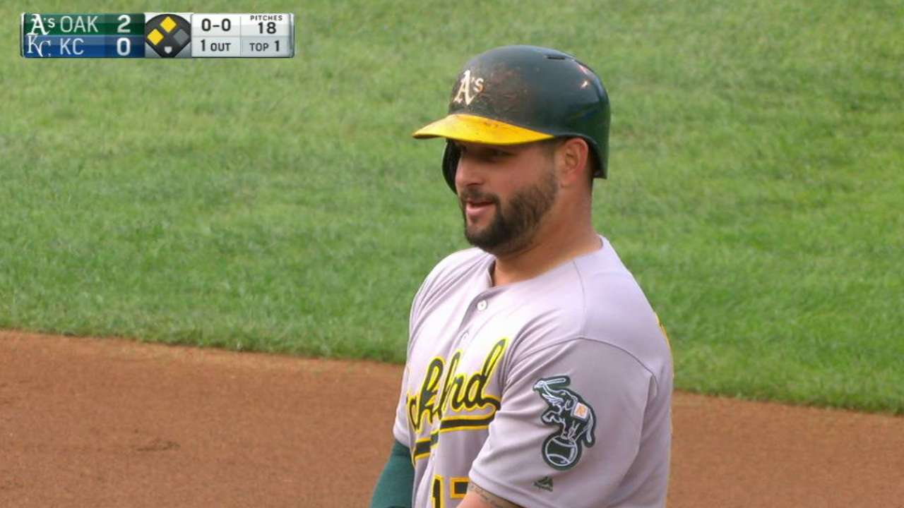 A's deal another blow to Royals' WC hopes