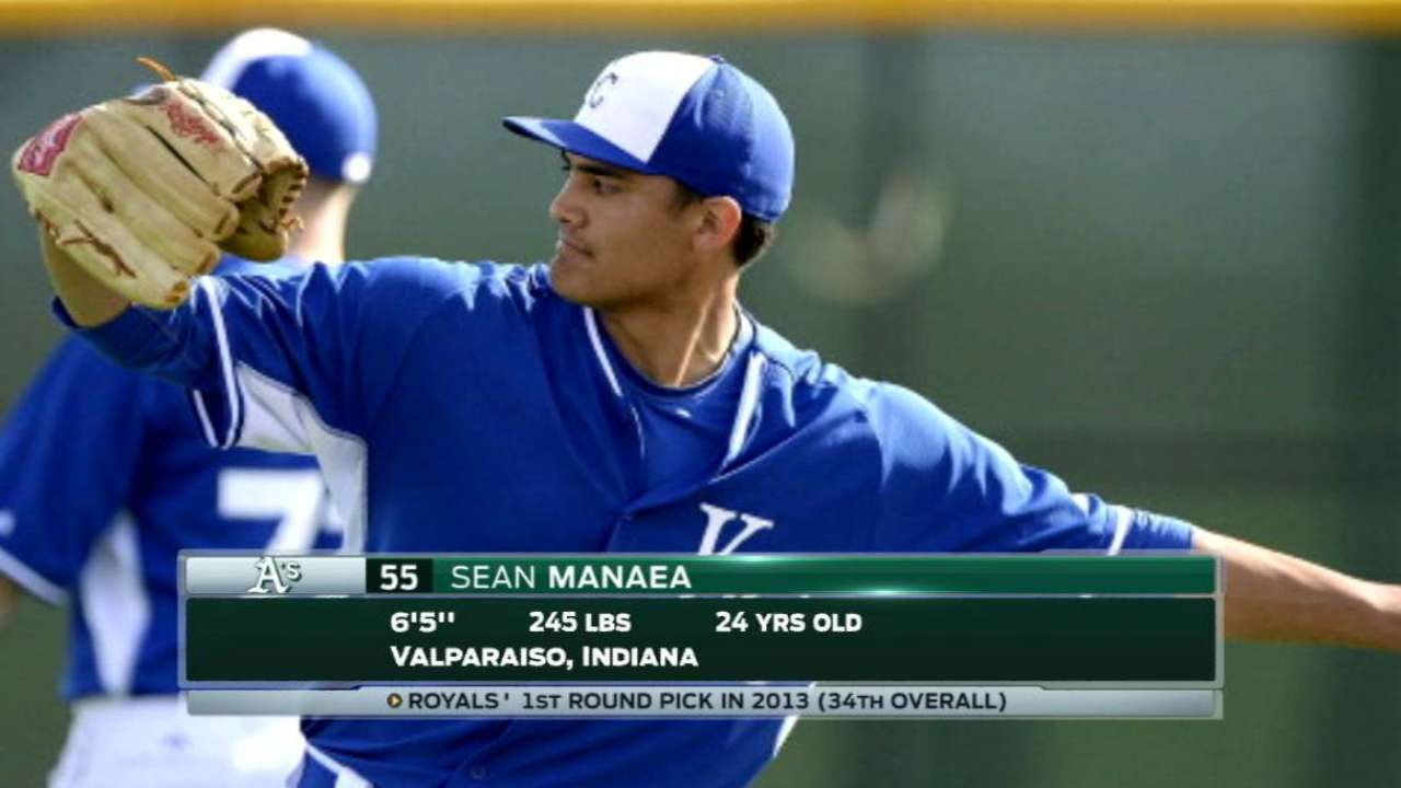 Royals' booth on Manaea