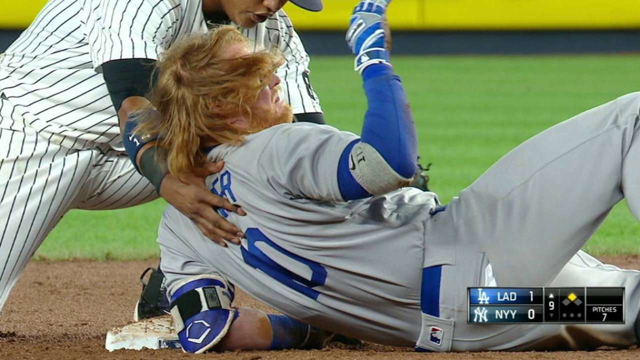 LA downs Yanks in 9th, boosts NL West lead