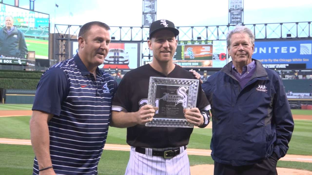 Frazier named Sox Heart and Hustle Award winner