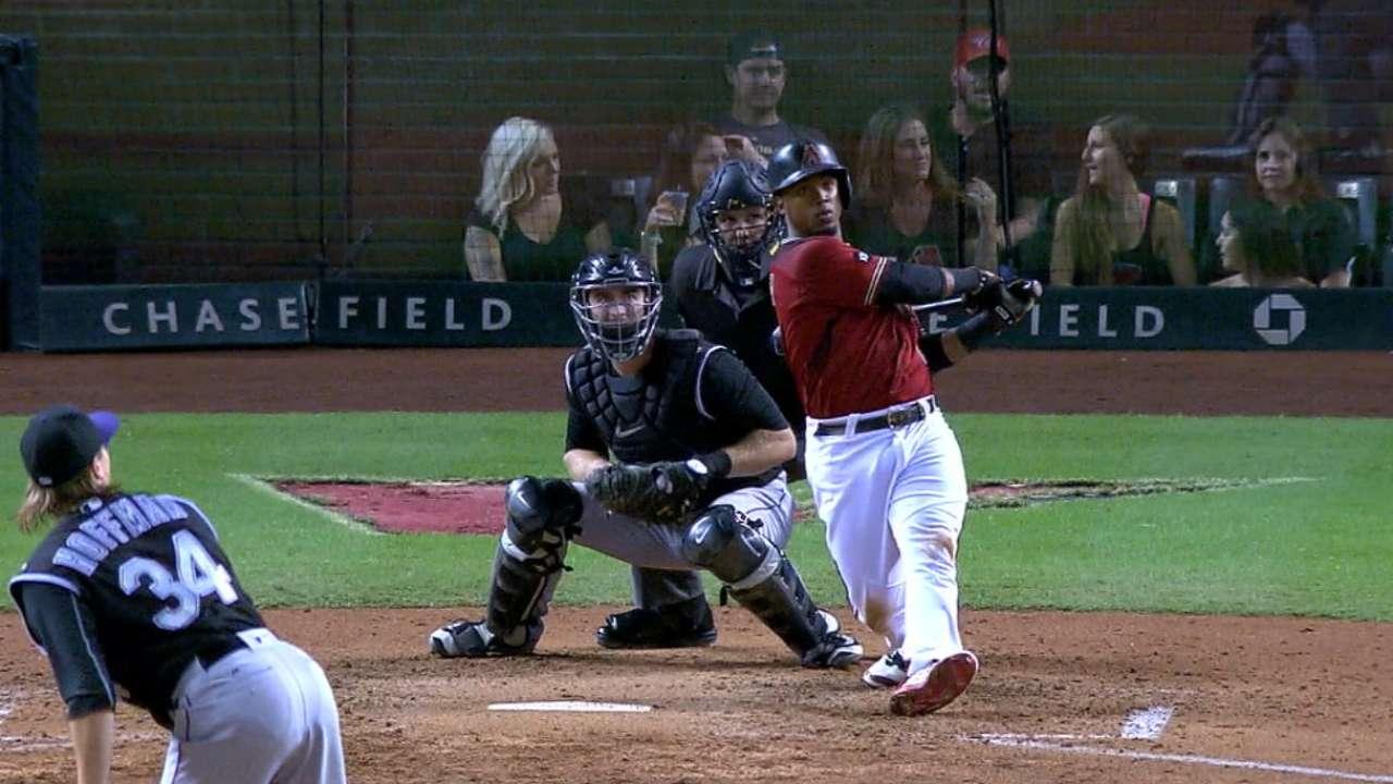 D-backs' five-run 5th inning