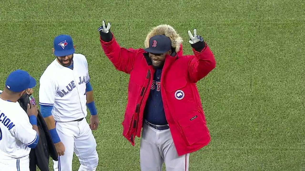 Blue Jays bestow custom jackets on Papi