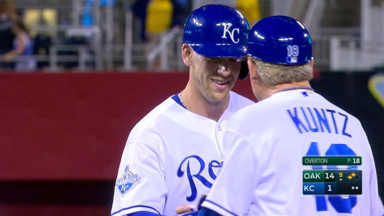 royals prospects of the year dozier strahm mlb com dozier s first career hit