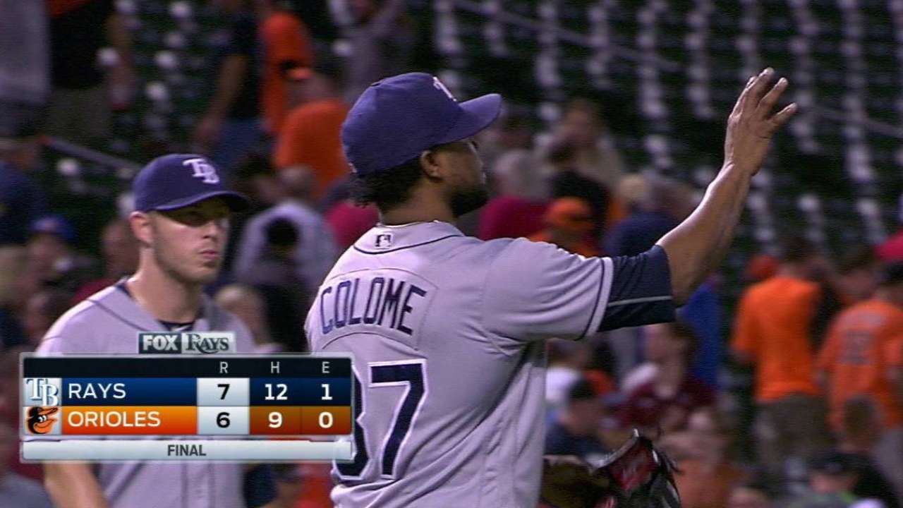 Colome notches the save