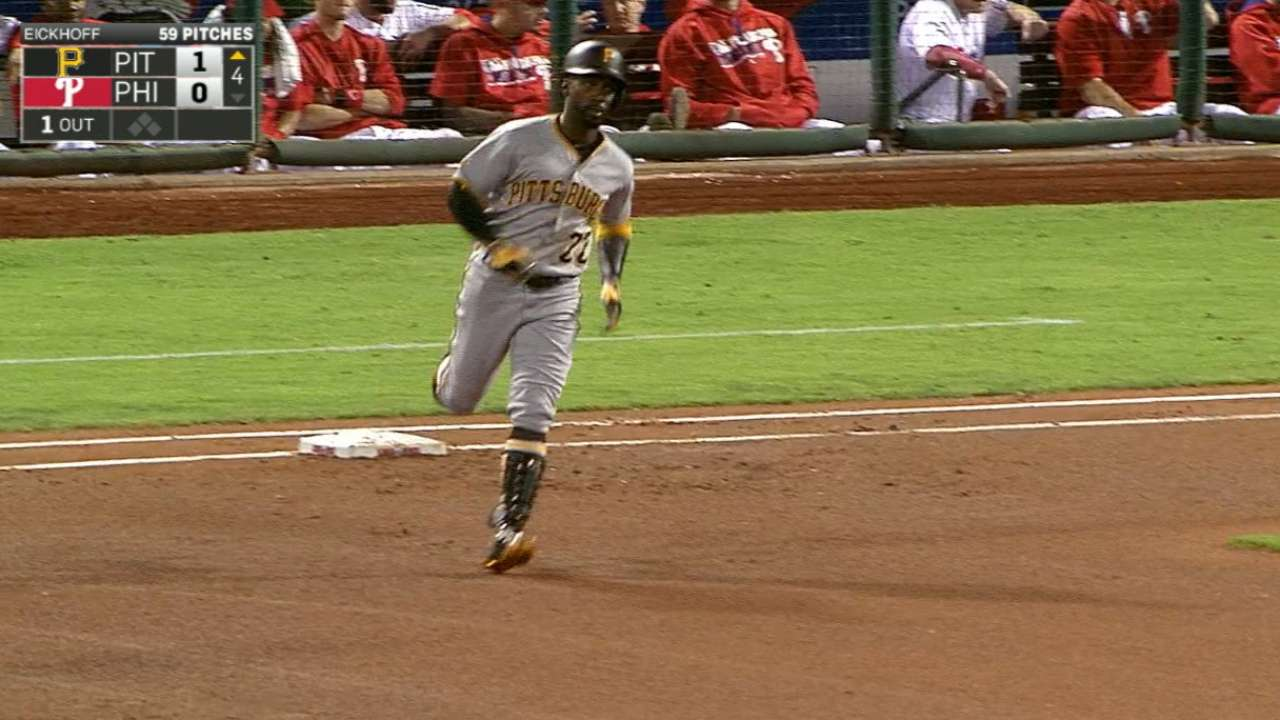 Pirates slug 5 HRs to rout Phils in finale
