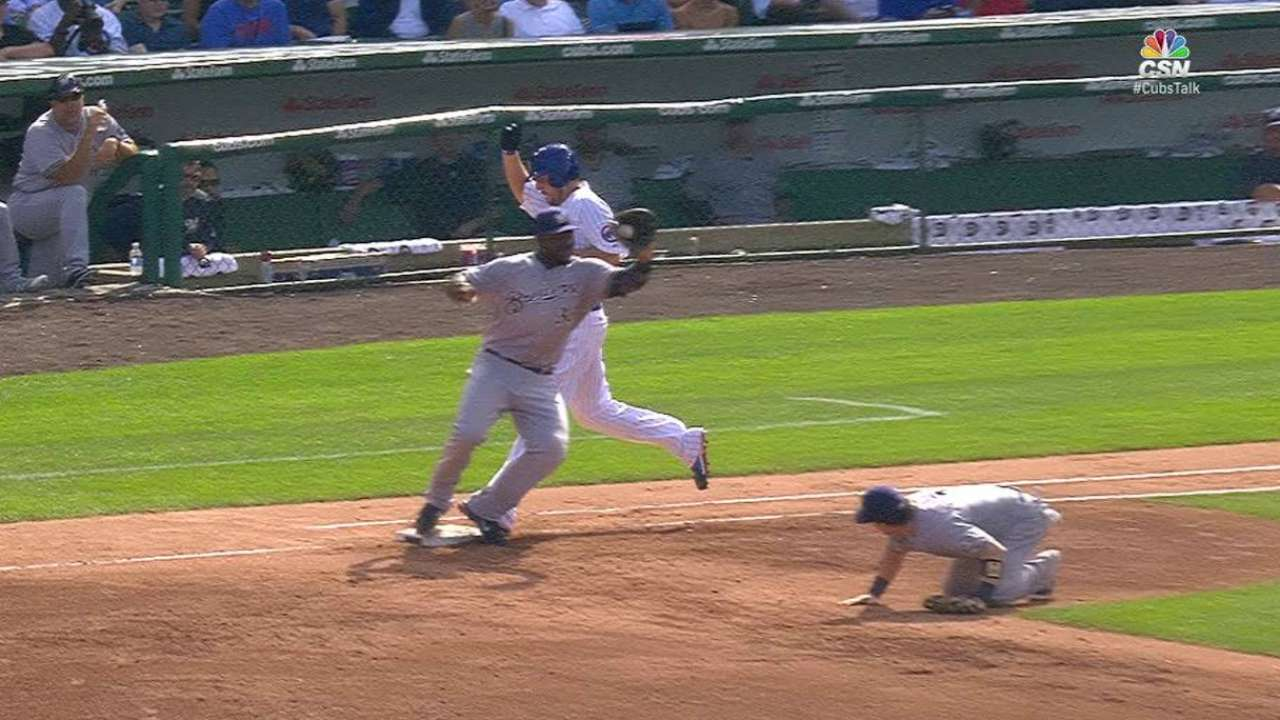 Gennett's heads-up double play
