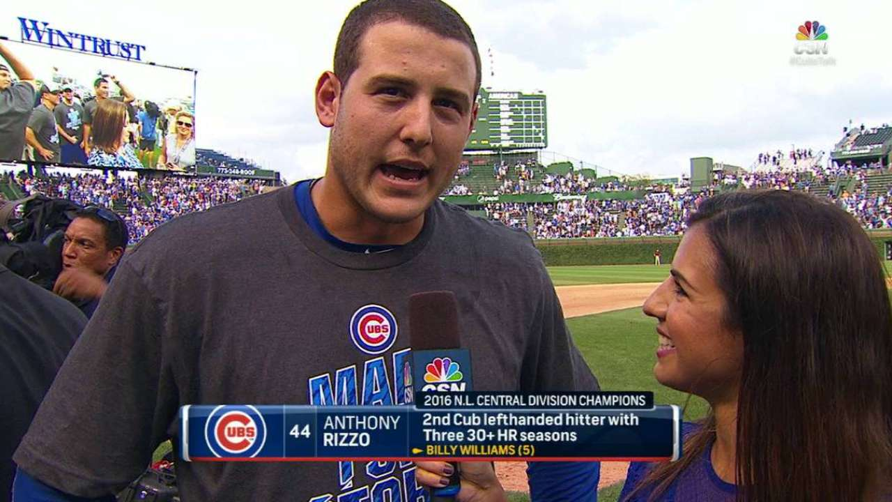 Rizzo on Cubs' NL Central title