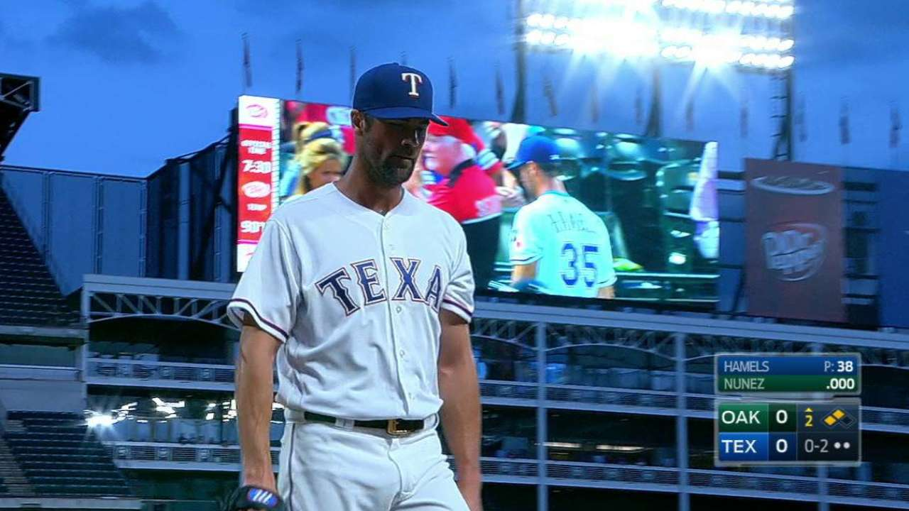 Rangers' Banister ejected after Angels' challenge