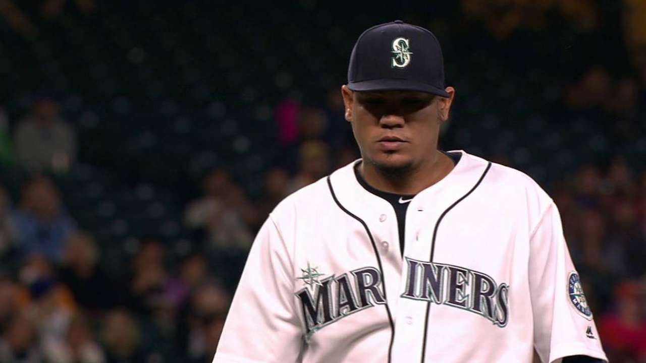 Felix: 'Missed a lot of spots' in loss to Astros